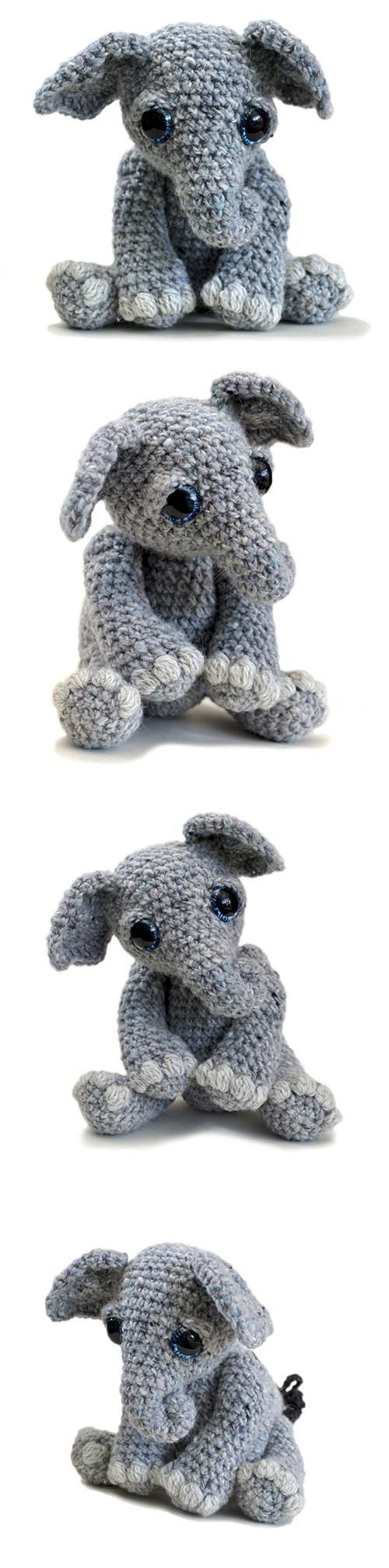 Tilly the Elephant amigurumi pattern by Patchwork Moose (Kate E ...