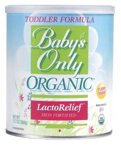 Baby's Only Toddler Formula, Lactose Relief, Organic, 12.7 ...
