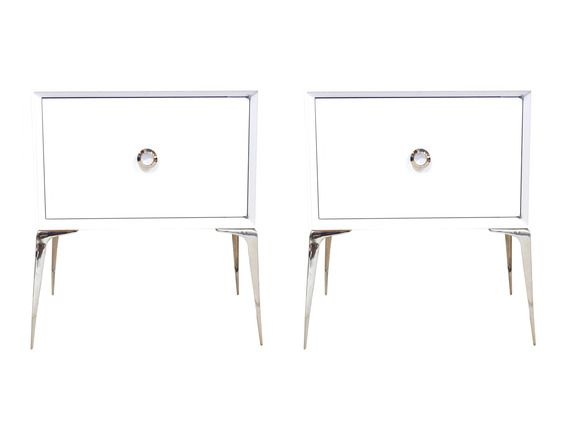 Pair of Lacquered Stiletto Stands - Dering Hall