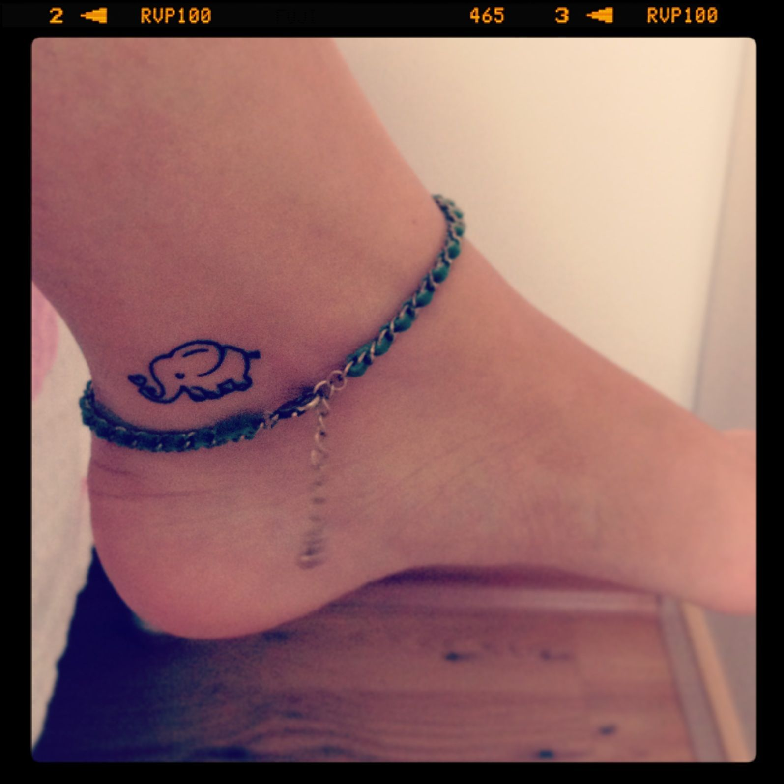 Tattoo elephanttattoo anklet elephants pinterest