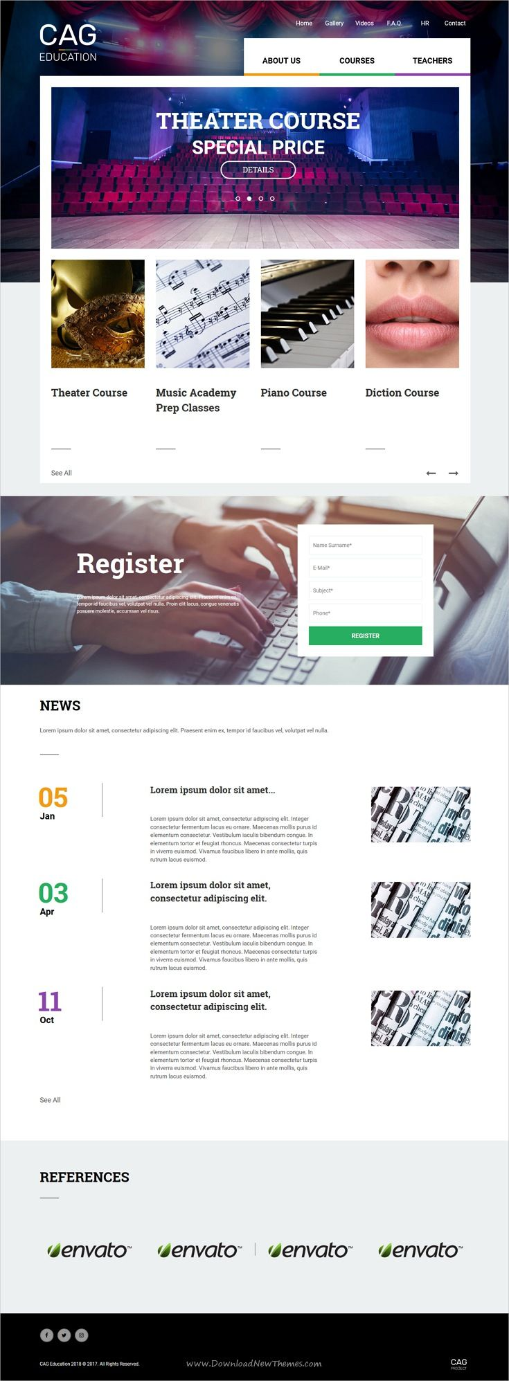 Cag is clean and modern design bootstrap template for