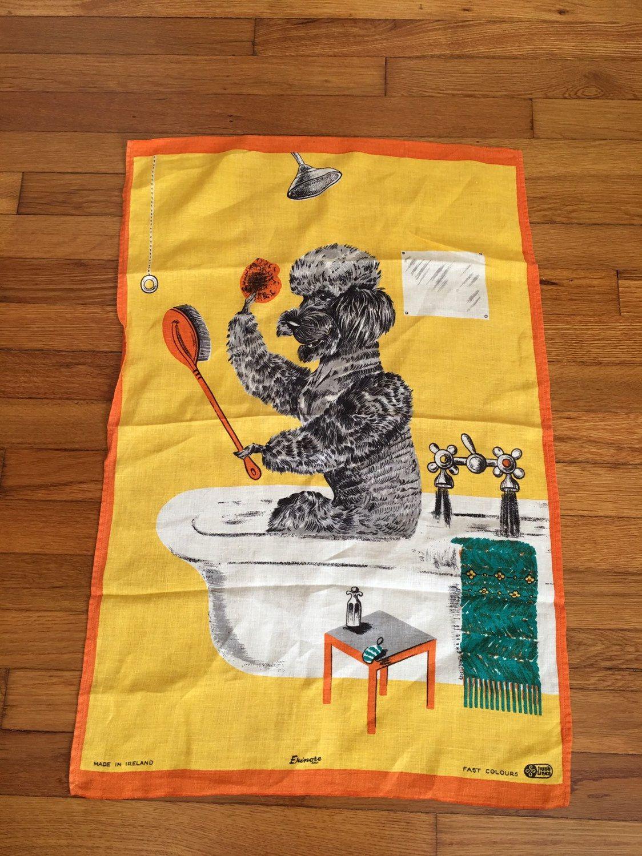 Poodle Dish Towel
