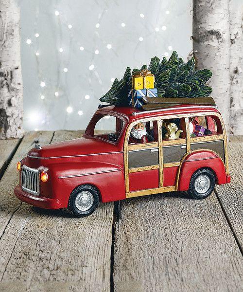 Woody Station Wagon With Santa Music Box Christmas Music