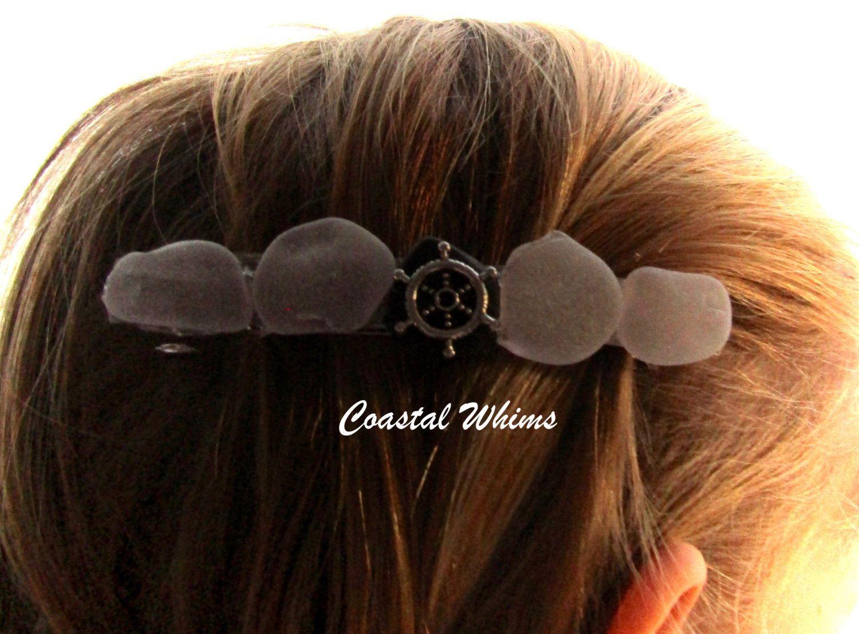Wedding beach hair  Lavender Sea Glass Barrette Mermaid Hair Large French Barrette