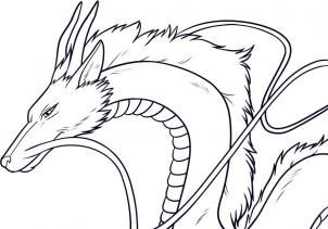 How To Draw Haku Spirited Away Haku Step 8 Dragon Sketch Spirited Away Drawings