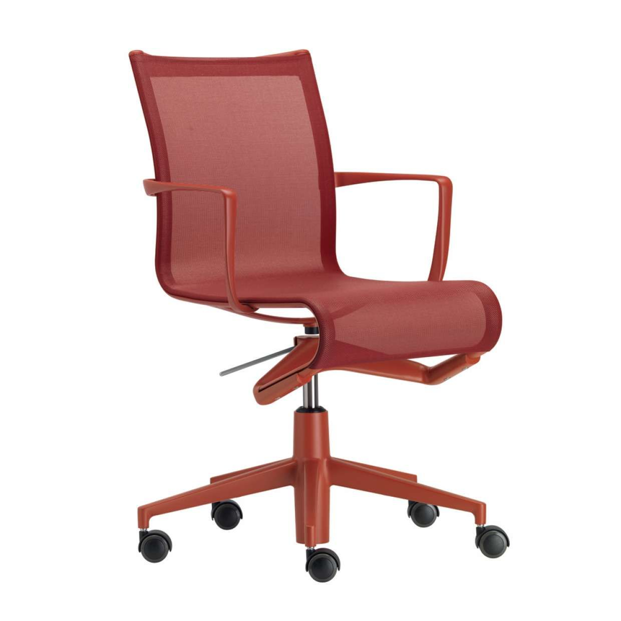 RED #rollingframe by Alberto Meda | Office chair | Pinterest