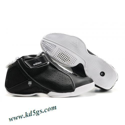 fd462543e1b3 Adidas T-Mac 4 Tracy McGrady Shoes Black White   Sneaker-freak ...