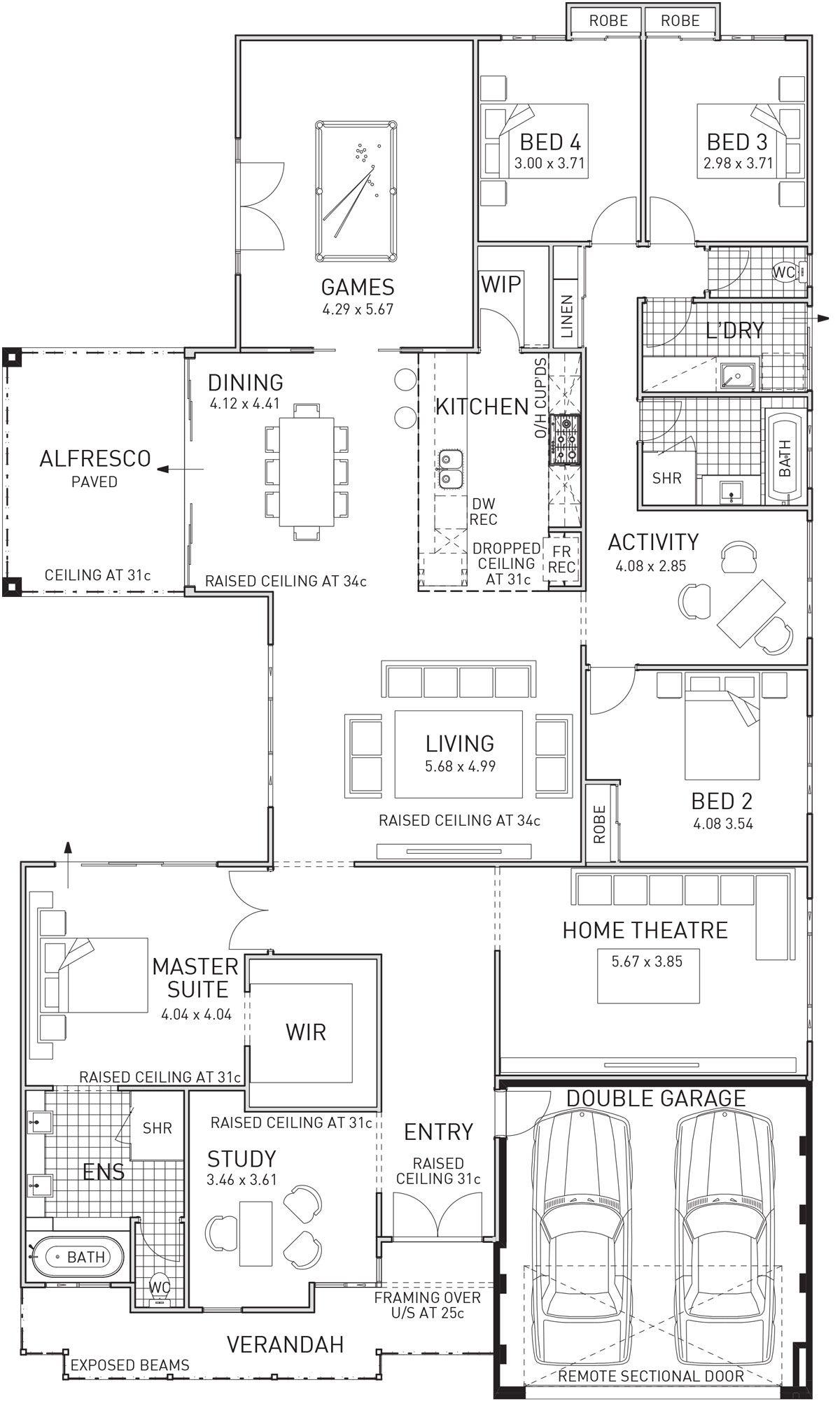 Shiraz Single Storey Display Floor Plan Wa House Plans Home Design Floor Plans House Design