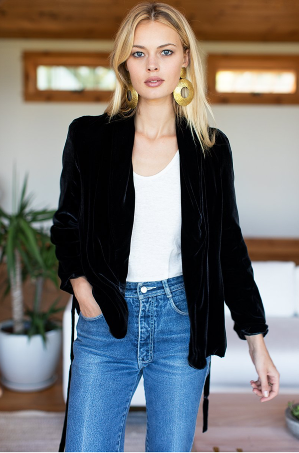 Emerson Fry Velvet Paris Jacket - Black on Garmentory
