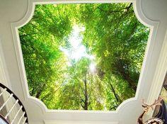 Leuchtbild kinderzimmer ~ 3d woods himmel fototapeten wandbild fototapete bild tapete