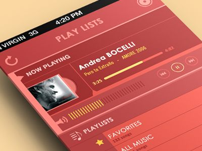 Ui Flat Music Player by Yasser Achachi