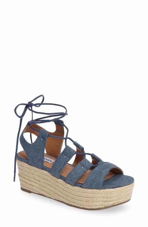 a32d4b1b830 Steve Madden Brayla Wedge Sandal (Women) | outfit | Denim sandals ...