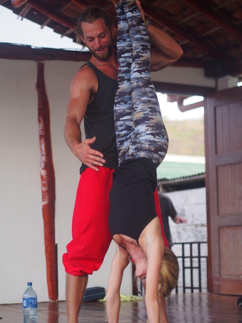 Handstand at Zen Yoga Nicaragua in San Juan del