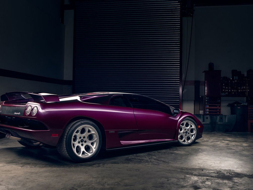 Lamborghini Diablo Car Lamborghini Diablo Vt Purple Wallpaper Hd