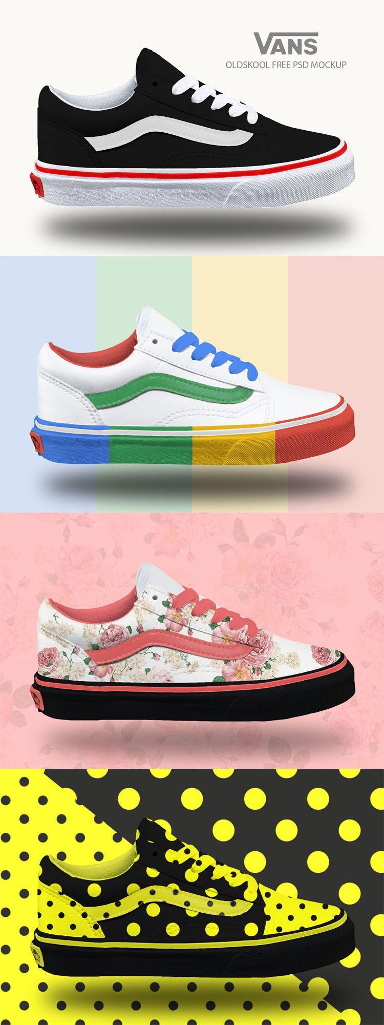 Download Free Vans Oldskool Sneakers Mockup Psd Vans Clothing Mockup Sneakers