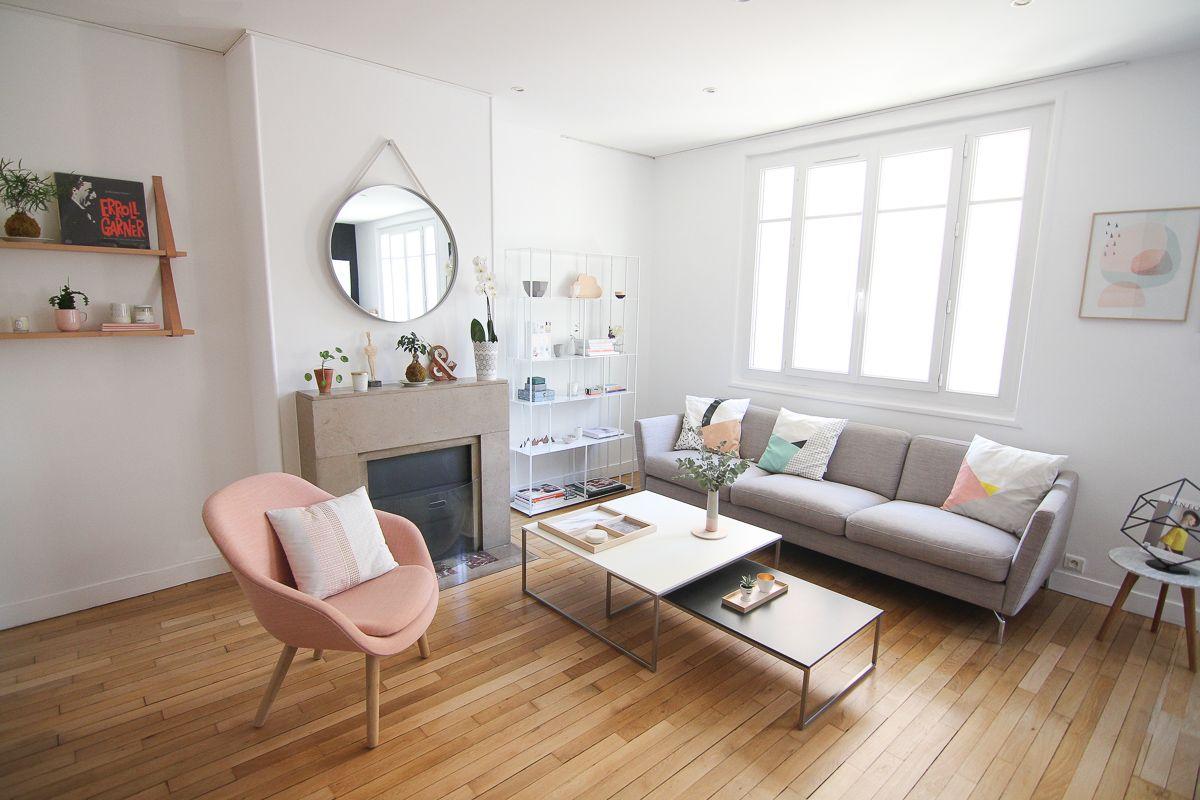 Home tour notre salon d inspiration scandinave les - Deco salon chambre ...