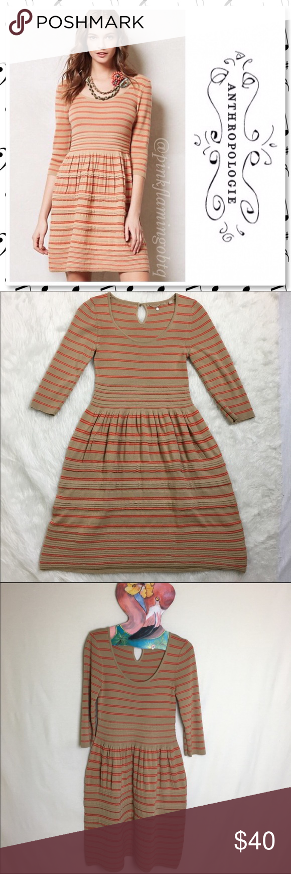 ca30a6b5733 Anthro Knitted   Knotted Elodie Sweater Dress Anthropologie Knitted and Knotted  Elodie Sweater Dress. Beige