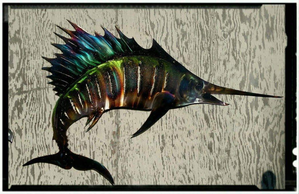 Sailfish Metal Wall Art Print Fish Decor Coastal Art Sea Life