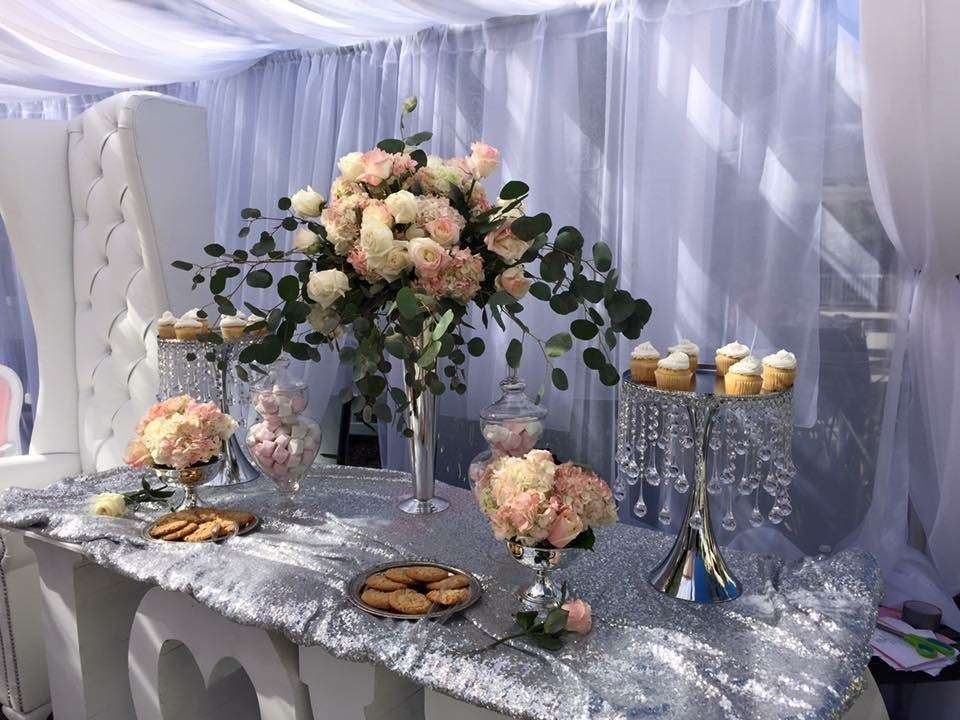 Stunning rose themed wedding party! See more party planning ideas at CatchMyParty.com!