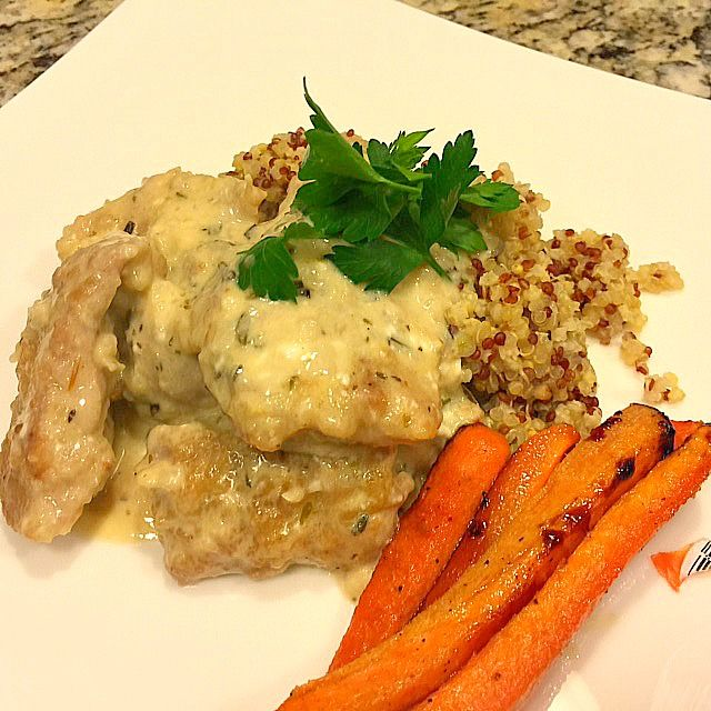Rosemary Dijonnaise Chicken by Lifestyle Food Artistry