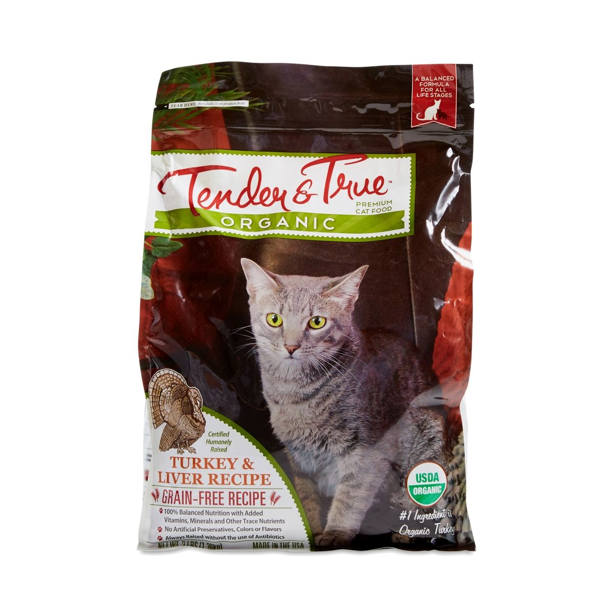 Tender & True Turkey & Liver Dry Cat Food 3 lb bag #flaxseedmealrecipes