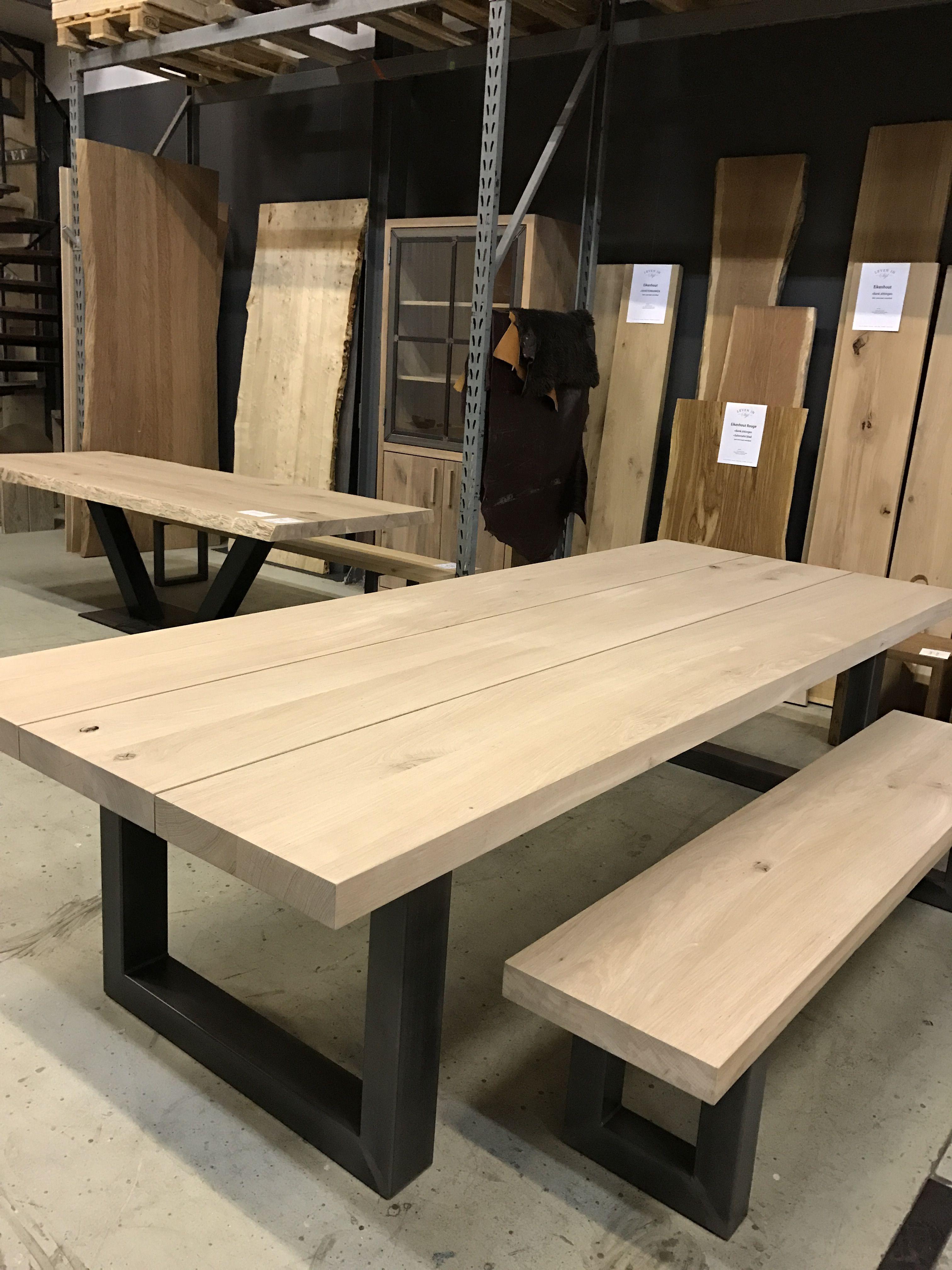 Uitgelezene Tafel & bank (leveninstijl.nl)   Diy dining table, Wooden dining DG-83