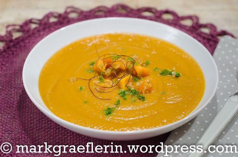 Feierabend-Küche: Süßkartoffel-Suppe mit roten Linsen für zwei