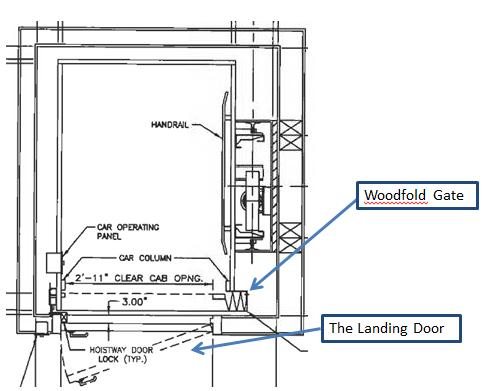 Woodfold Elevator Gate 486 391 X Bank