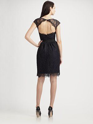 d21c1005e79 ML Monique Lhuillier - Midnight Lace Cocktail Dress - Saks.com ...