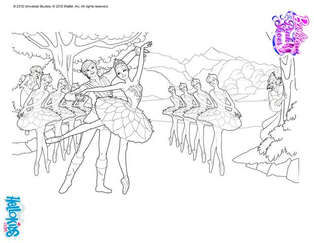 Pin By Crystal Davis On Dance Coloring Sheets And Pics Swan Lake
