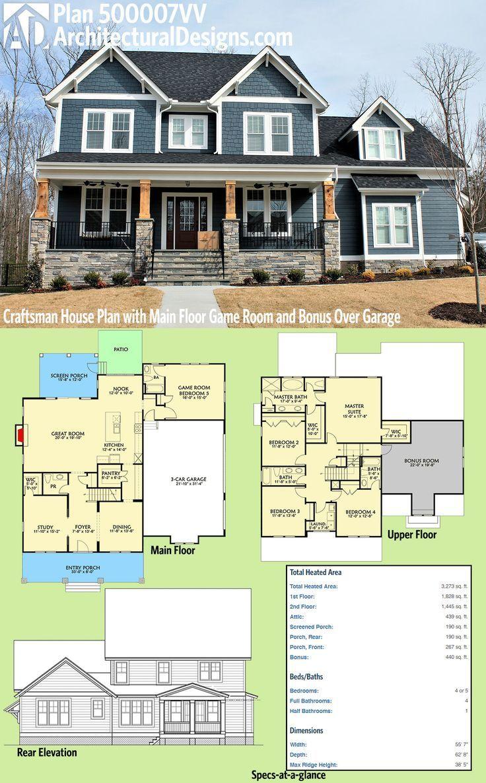 Architectural Designs Craftsman House Plan 500007VV has