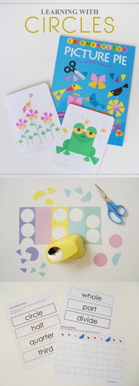 {Learning with Circles} Great collection of fun-educational activities and printables inspired by the book Picture Pie
