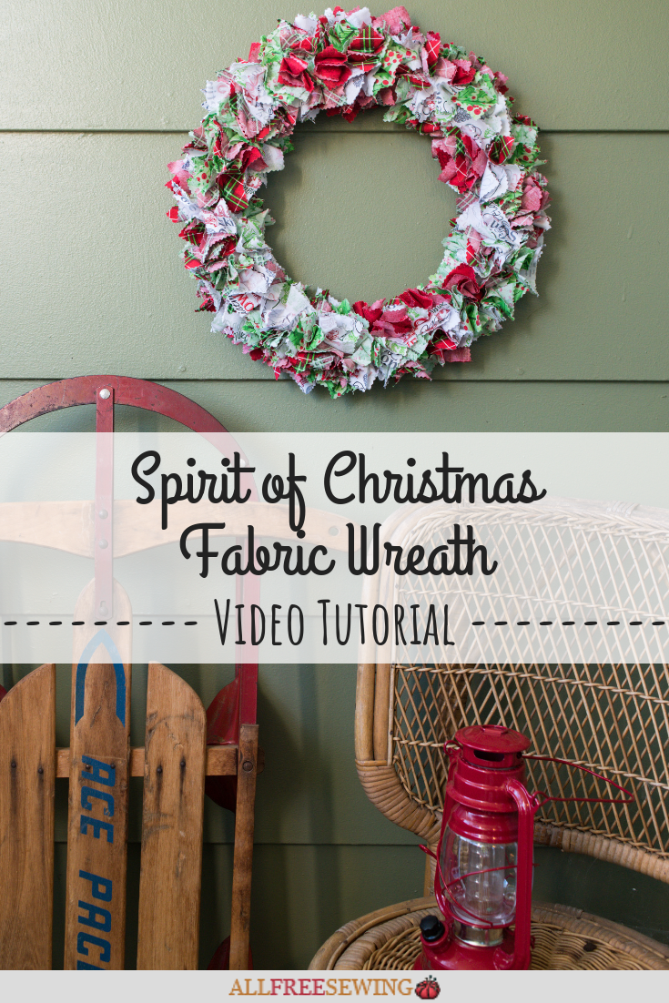 Photo of Spirit of Christmas fabric wreath tutorial