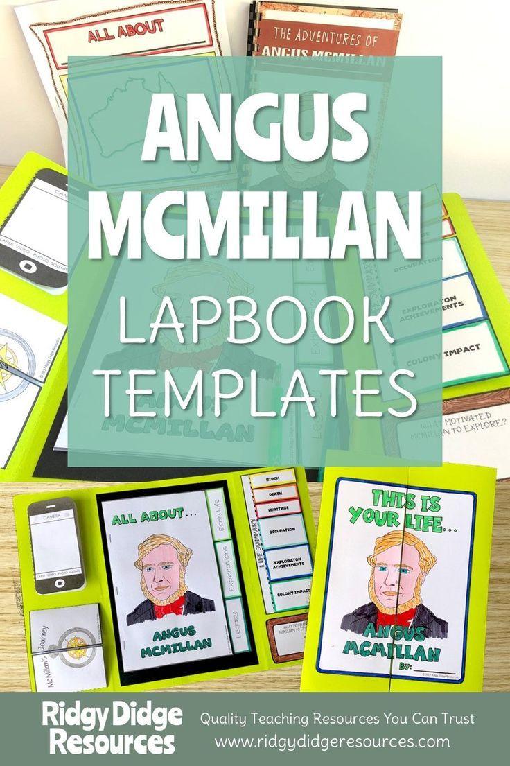 Australian Explorers Lapbook Series Angus McMillan