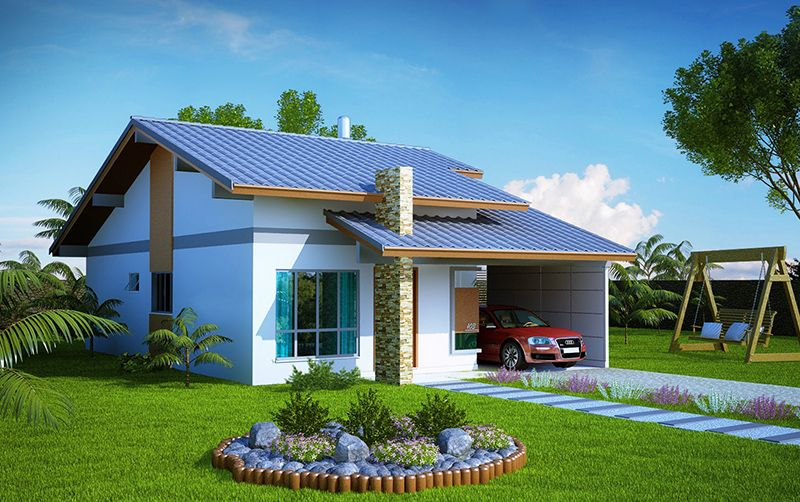 Projetos de casas modernas e pequenas gr tis house for Fachadas de piedra para casas pequenas