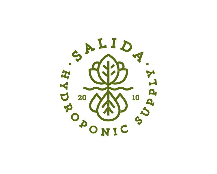 Salida Hydroponic Supply Logo Hydroponics Diy Hydroponics