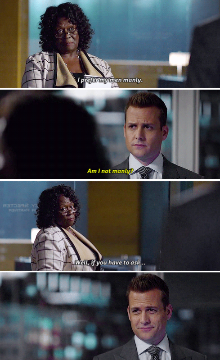 Loved this scene! #Suits Now Time for her to Straighten Louis out now that Sheila sold them out