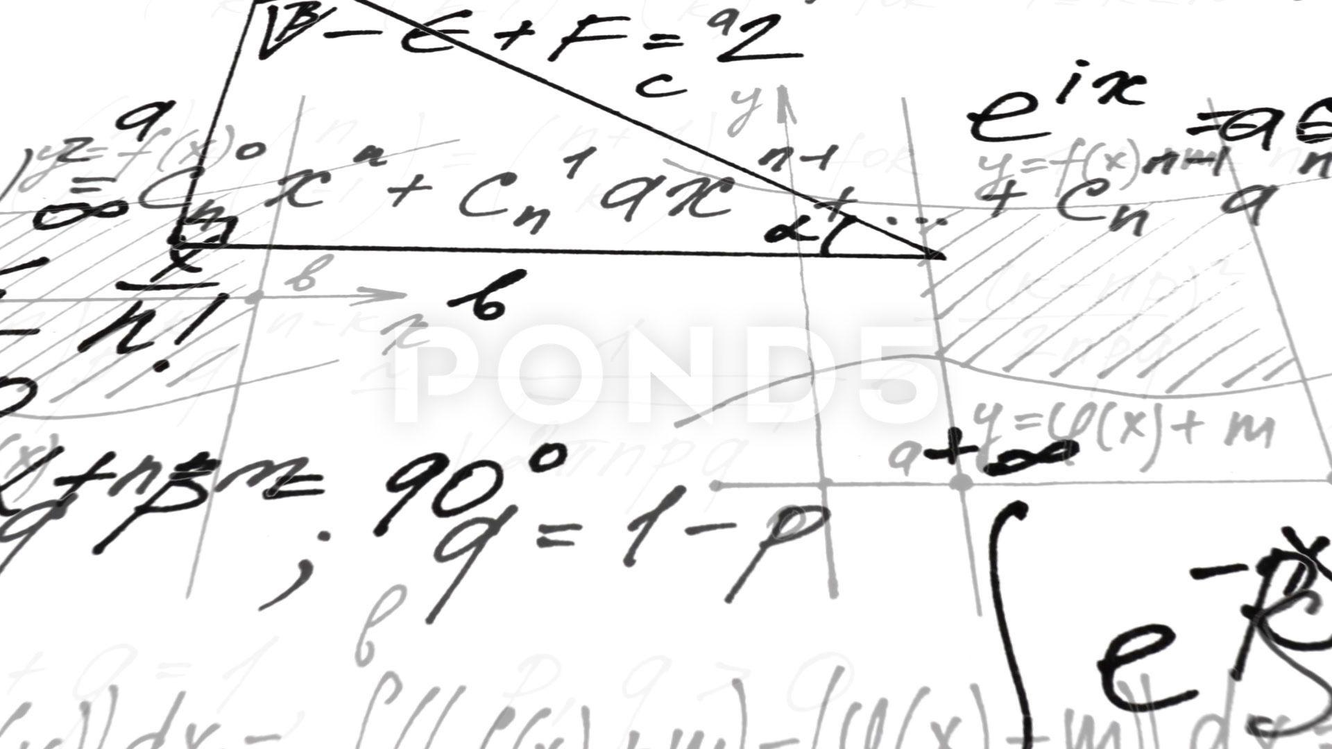 Animation on mathematics. pythagorean theorem math