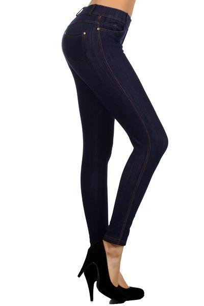 6cb1a117cc243 Fleece Lined Skinny Fit Denim Jeggings - $34 at OnlyLeggings.com  #OnlyLeggings
