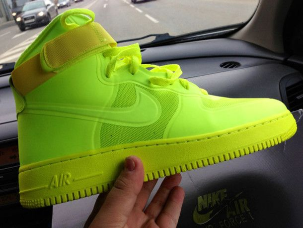Nike Air Force One High Hyperfuse Neon