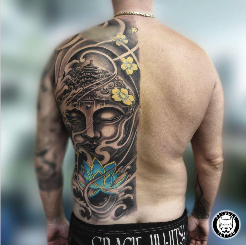 Half Back Japanese Tattoo Japanese Tattoo Polynesian Tattoo Back Tattoo