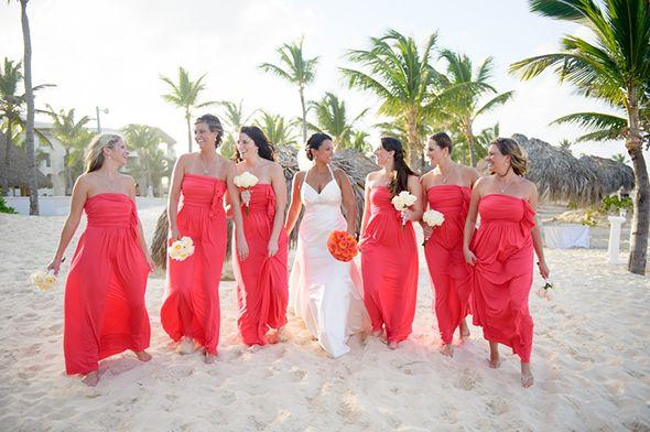 Coral Beach Bridesmaid Dresses | ... Coral bridesmaid dresses are ...