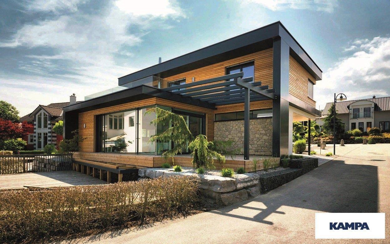 Case A Due Piani casa prefabbricata in legno moderna a due piani con