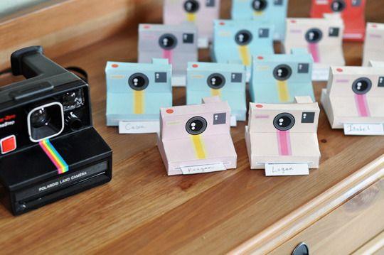polaroid camera invitations.