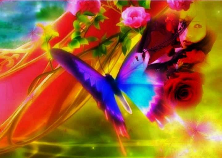 Qual tem a borboleta por costume, Que, enlevada na luz da acesa vela, Dando vai voltas mil, até que nela Se queima agora, agora se consume,  ( Camões )
