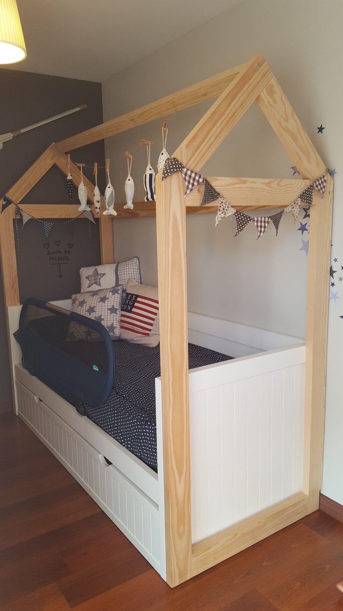Casita con cama de Gris alba En este proyecto hicimos la cama nido ...