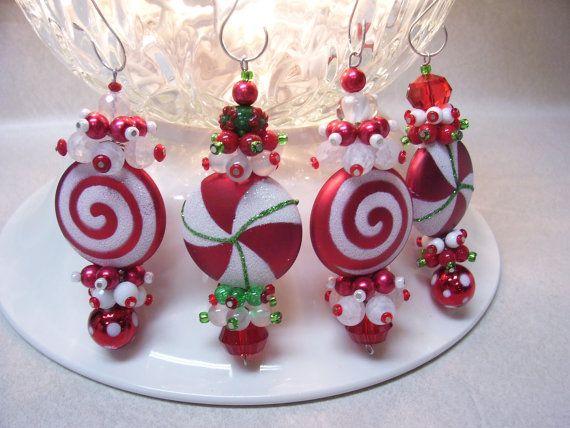 Polymer Clay Christmas Jewelry.Merry Christmas Dangles Christmas Ornaments Christmas