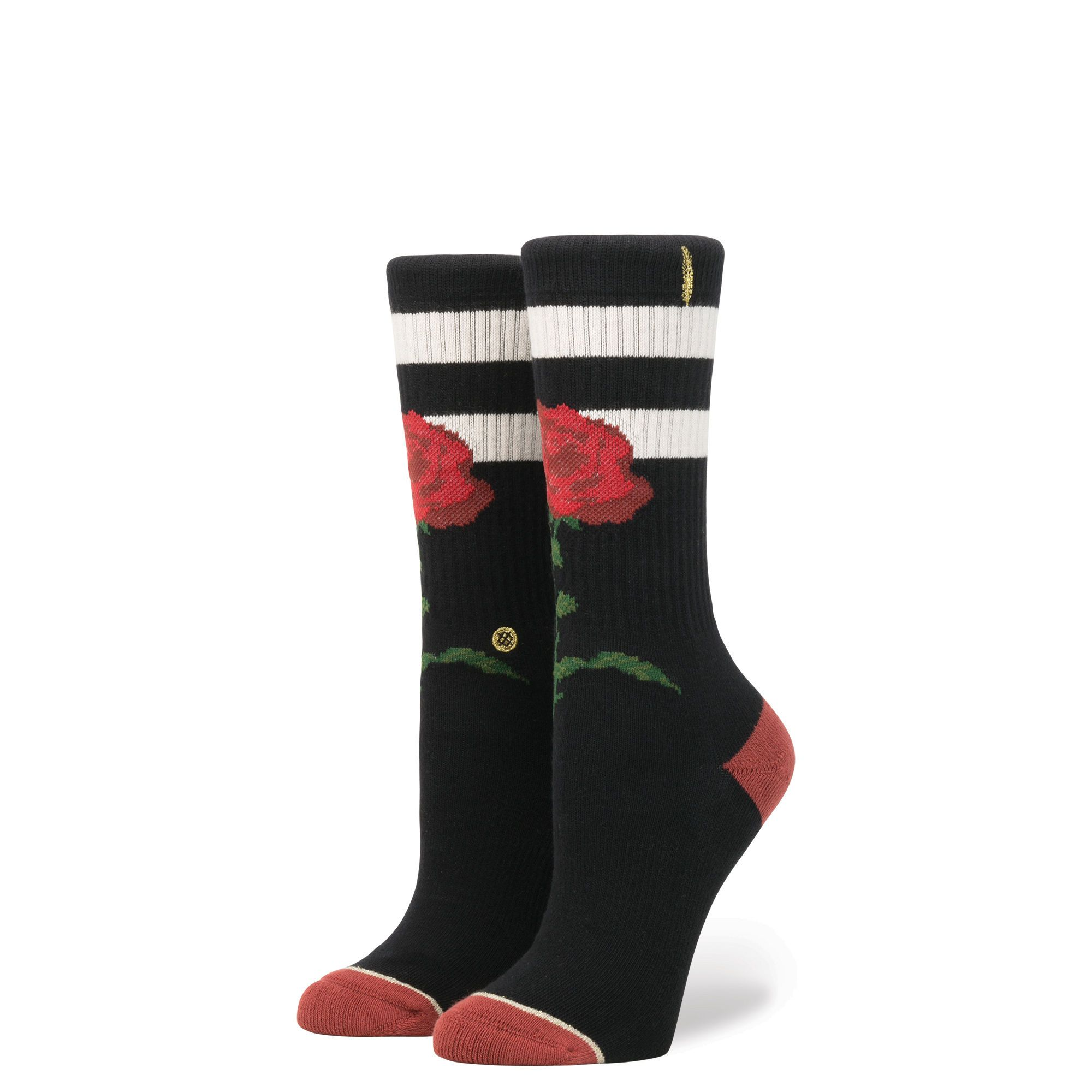 Stance Midnight Rose Women/'s Socks Black