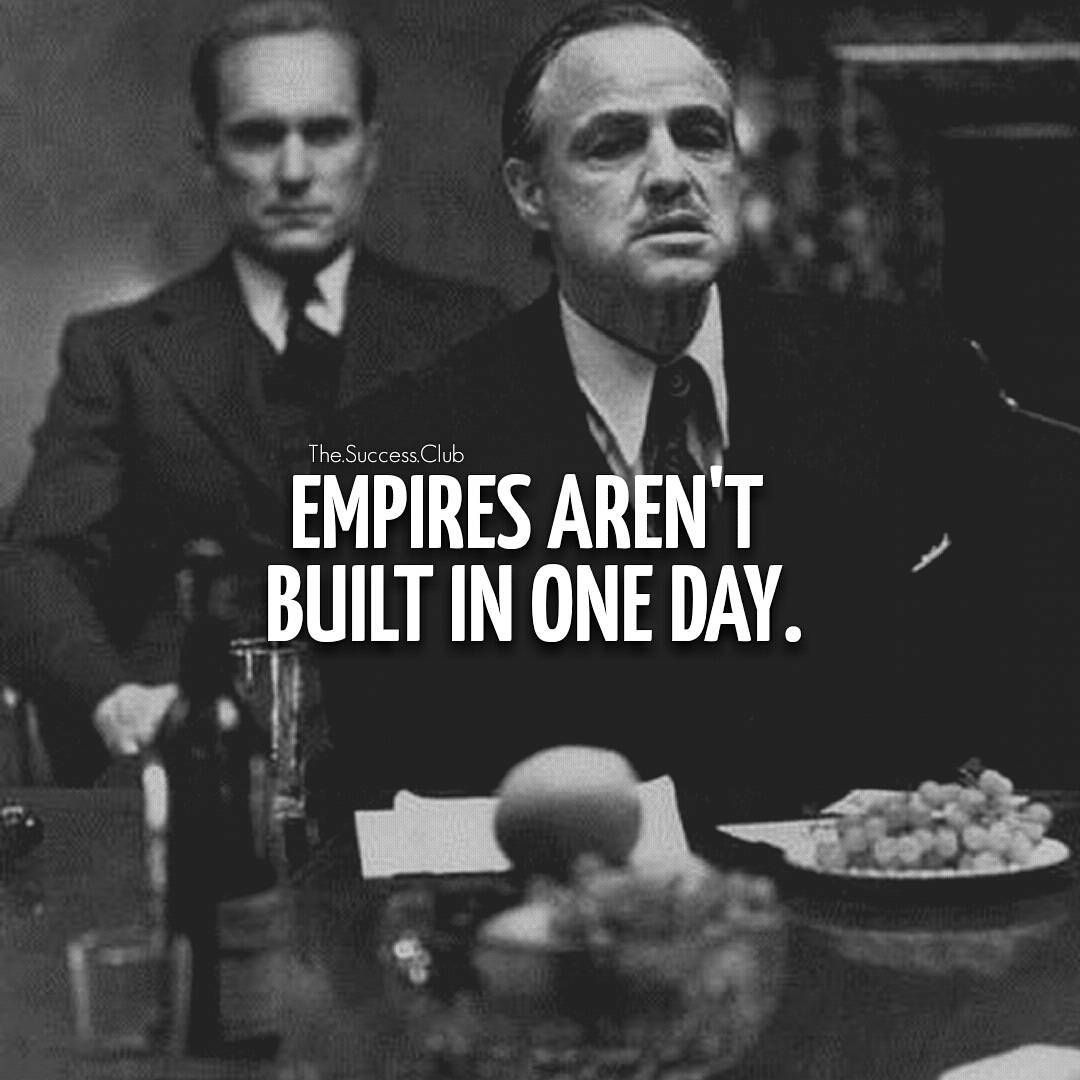 """The Godfather Quotes About Family: """"Tag Your Friends #thesuccessclub #godfather #empire"""