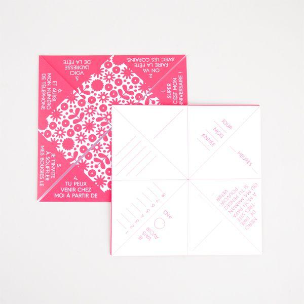 8 invitations cocottes en papier confiture anniversaire garance pinterest anniversaire. Black Bedroom Furniture Sets. Home Design Ideas